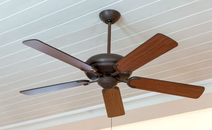 Picture of a ceiling fan with downrod