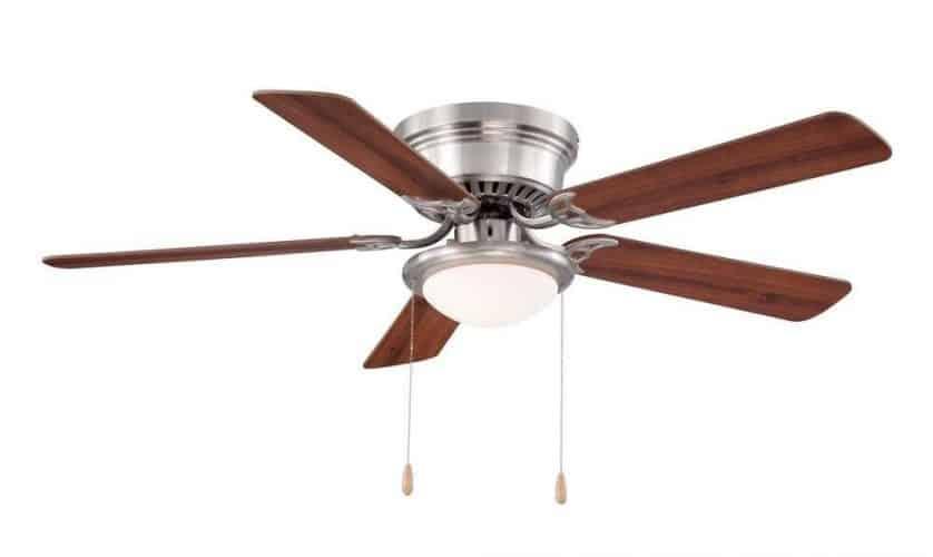 Hampton Bay Hugger 52 In. Brushed Nickel Ceiling Fan