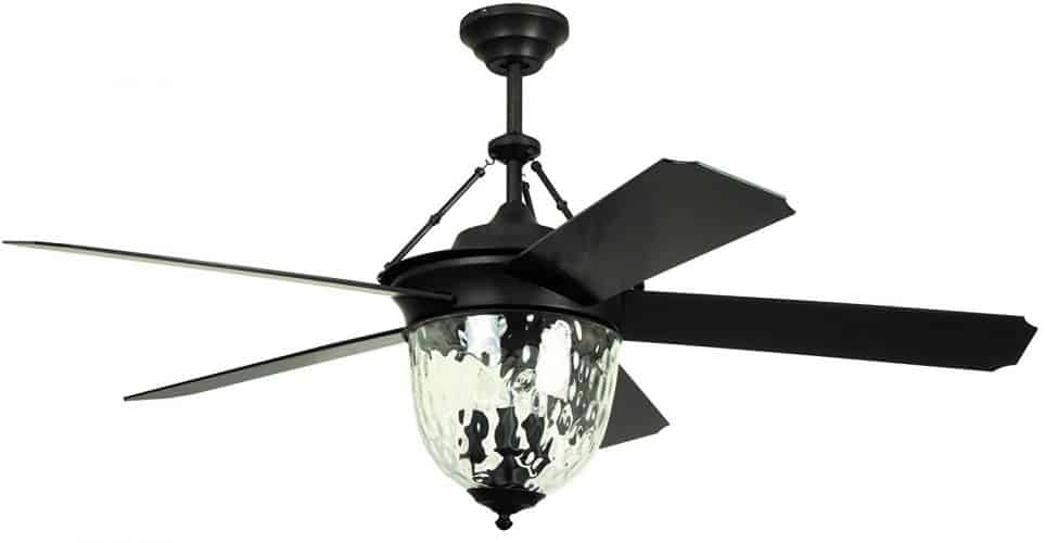 Litex E-KM52ABZ5CMR Knightsbridge Collection 52-Inch Indoor/Outdoor Ceiling Fan