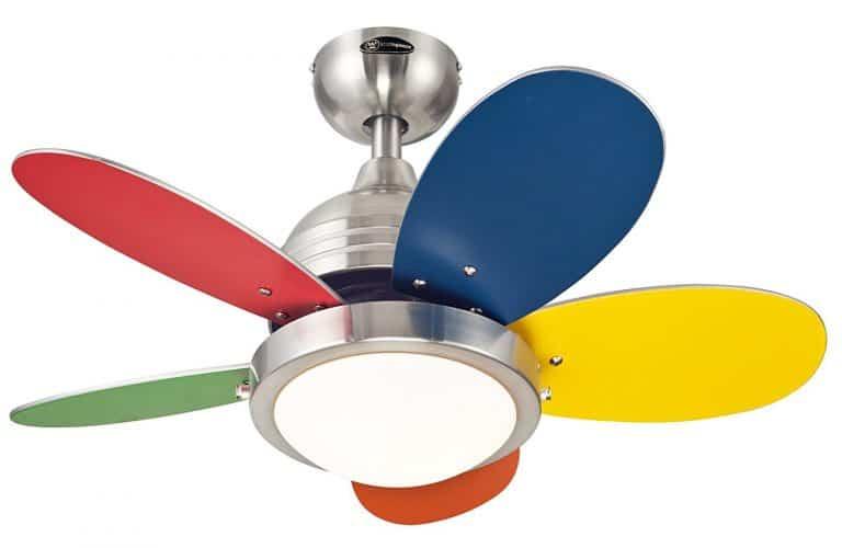 Colorful ceiling fan