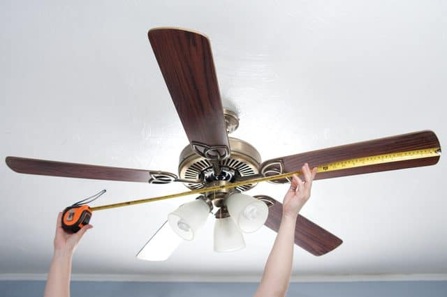 How are ceiling fans measured