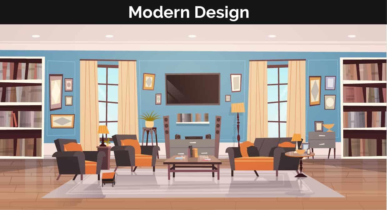 Modern decor illustration
