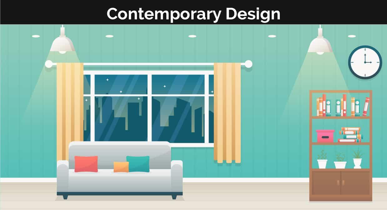 Contemporary decor illustration