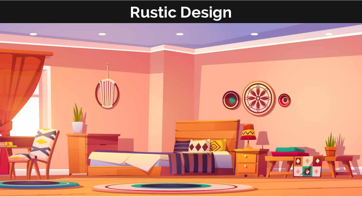 Rustic decor illustration