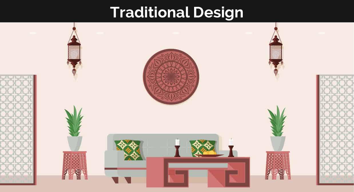 Traditional decor illustration