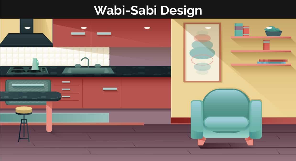 Wabi Sabi decor illustration