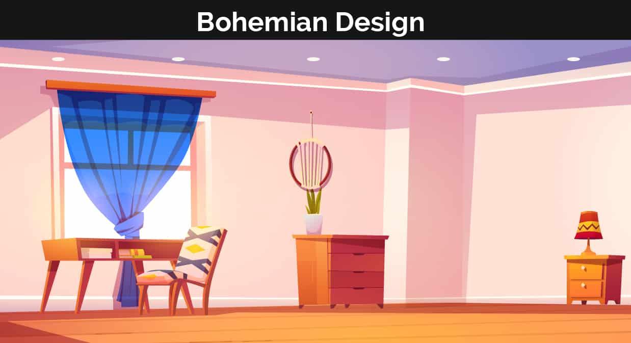 Boho decor illustration