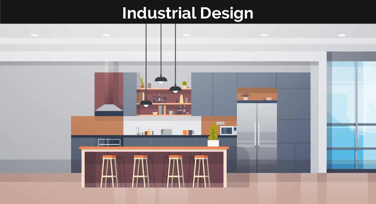 Industrial decor illustration