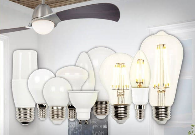 Collection of LED ceiling fan bulbs