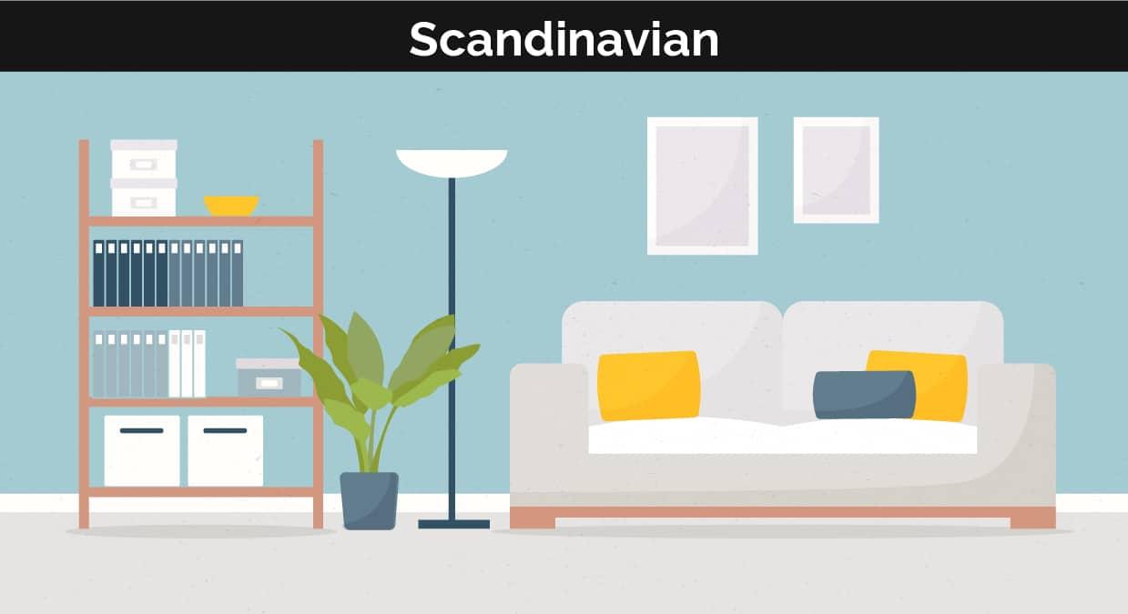 Scandinavian decor illustration