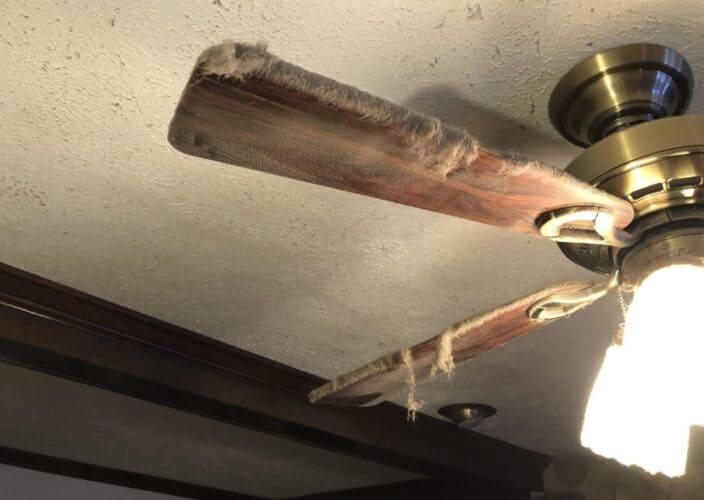 Dusty ceiling fan