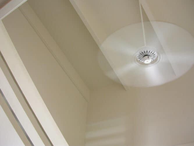 Ceiling fan spinning
